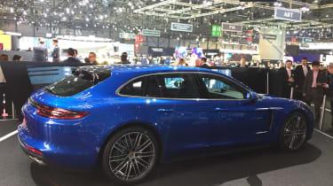 Porsche Panamera Sport Turismo - Geneva rear three quarter
