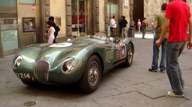 Jaguar C-type in Mille Miglia