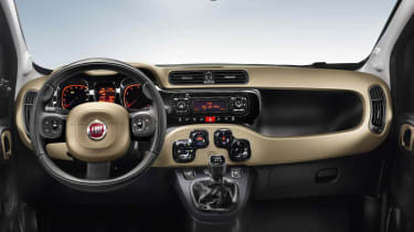 New 2012 Fiat Panda dashboard