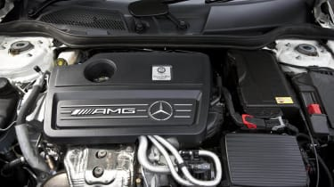 Mercedes A45 AMG 2-litre turbo four-cylinder engine