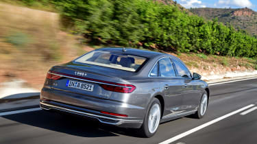 Audi A8 - rear quarter dynamic