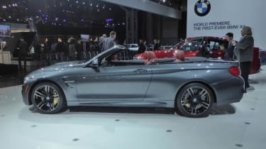 BMW M4 Convertible New York show roof down
