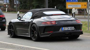 Porsche 911 Speedster spy - rear quarter