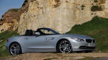 2013 BMW Z4 sDrive18i silver side profile