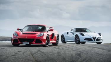 lotus Exige VS. Alfa Romeo 4C