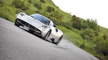 Pagani Huayra in the Italian hills sideways drift slide