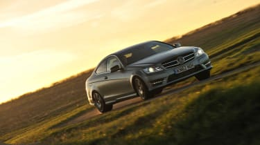 Mercedes C250 Coupe with AMG handling pack