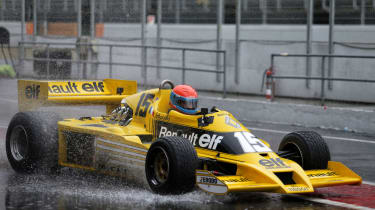 Jean-Pierre Jabouille driving the Renault RS01