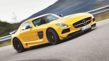 Mercedes SLS Black at the Nurburgring with Michelin