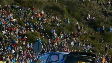 WRC Spain Ogier hairpin