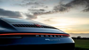 Porsche 911 Carrera S manual blue - static rear