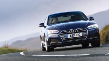 Audi A5 coupe blue - front