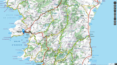 Corsica map, by Michelin