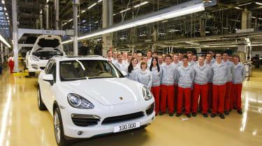 Porsche celebrates 100,000th Cayenne