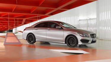 Mercedes-Benz CLA silver front
