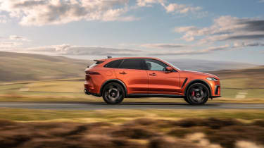 Jaguar F Pace SVR 2021 review - pan