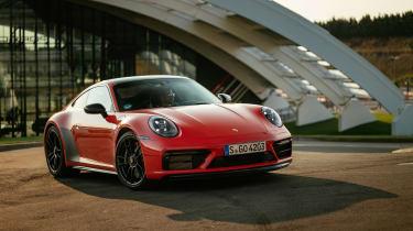 Porsche 911 GTS review (992) – front quarter static