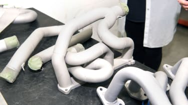 Sandblasted exhaust manifold
