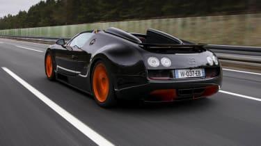 Bugatti Veyron Vitesse record video