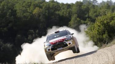 WRC Spain Ostberg flying