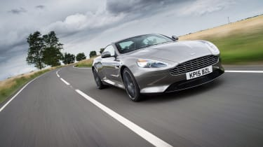 Aston Martin DB9 GT front driving shot -