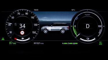 Range Rover P400e PHEV dials