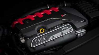 Audi RS3 Saloon Red engine