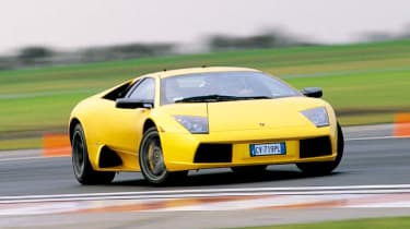 Lamborghini Murcielago on track