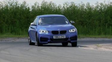 BMW M235i blue front