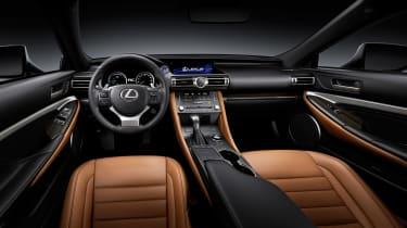 Lexus RC coupe facelift - inteiror