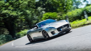 Jaguar F-type 400 Sport cornering