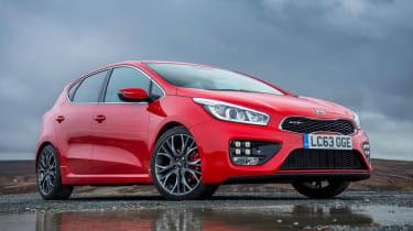 Kia Ceed GT five-door red front