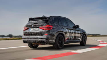 BMW X3 M and X4 M prototypes - rear quarter