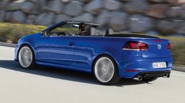 VW Golf R Cabriolet blue