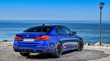 BMW M5 review - rear quarter