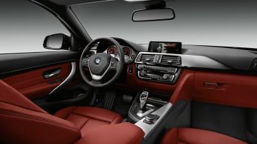 BMW 435i interior dashboard steering wheel