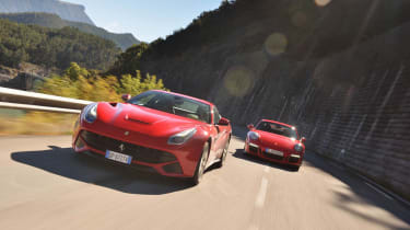 evo Car of the Year 2013 video: Ferrari F12 Berlinetta and Porsche 911 GT3