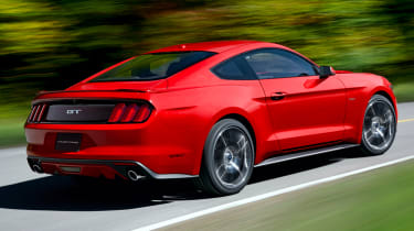 2014 Ford Mustang red rear drift