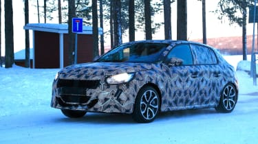 Peugeot 208 spied - front quarter
