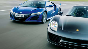Honda NSX and Porsche 918 – front