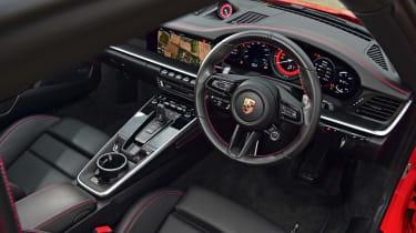 Porsche 911 Carrera S red interior