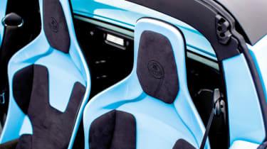 Lotus Elise S3 Club Racer blue seats