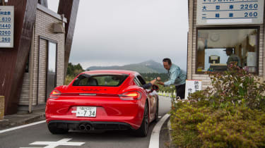 Porsche Cayman GTS Japan - rear toll