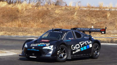 Toyota GT86 tackes Pikes Peak Monster Super 86 front