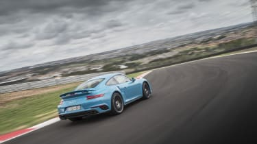 991.2 Porsche 911 Turbo S - rear driving shot 6