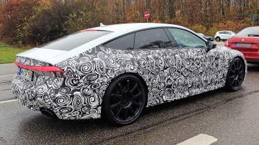 Audi RS7 body-on spy - rear quarter