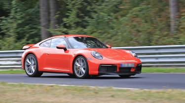 992 Porsche 911 prototype - red front quarter