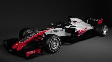 HAAS F1 car - quarter