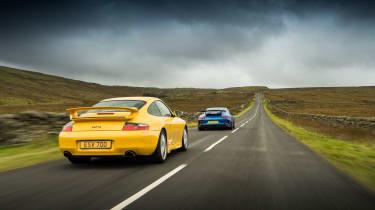 Porsche 911 GT3 996 and 991