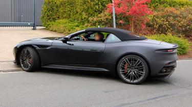 Aston Martin DBS Volante spy - OCT18 side